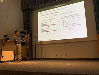 Summer REU Student Mark Yamane presents his research on marine reserves in the Santa Barbara Channel Islands.